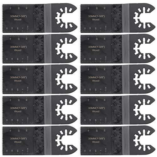 LANTRO JS - Herramientas multifuncionales oscilantes estándar de 35 mm para herramientas de jardín y accesorios de herramientas eléctricas, hojas de sierra Wanyongbao, paquete de 10