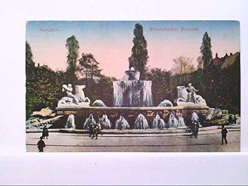 AK München - Wittelsbacher Brunnen, Künstlerkarte.