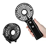 COMLIFE Mini Handheld Fan, Foldable Rechargeable Battery Operated Desk Fan with 5200mAh Power Bank Function, Portable Personal USB Cooling Fan for Home, Office, Travel and Outdoor