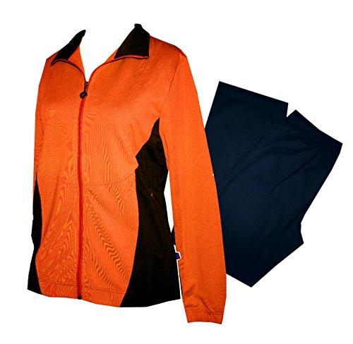Schneider Sportswear Ornella Damen Trainingsanzug (40, karotte/dunkelblau)