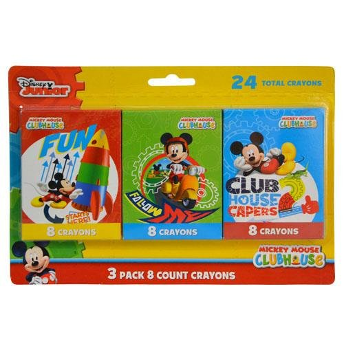 Mickey Mouse Crayons - 3 Packs of 8 Crayons