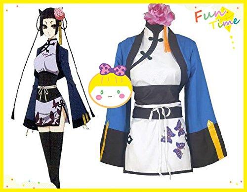 『「スキスキ域」コスプレ衣装 黒執事Ⅱ 藍猫(ランマオ)(Ran-Mao)メイド服 髪飾り付き 衣装のみ』の1枚目の画像