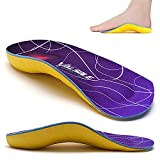 VALSOLE 3/4 High Arch Support Insoles for Women&Men,Orthotic Inserts for Plantar Fasciitis,Flat feet,Overpronation,Relief Heel Spur Pain