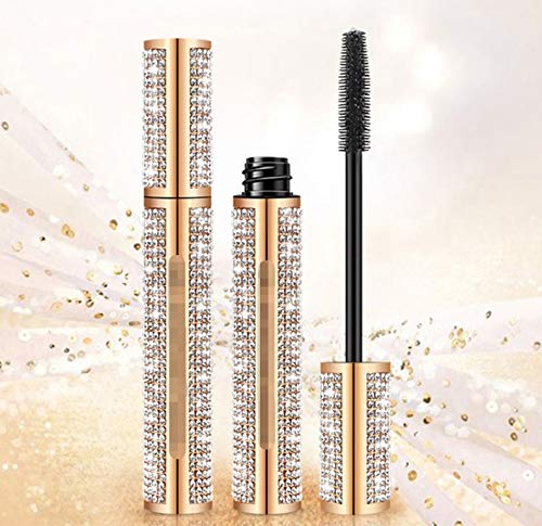MJS Diamond Mascara Star Waterproof 3d Mascara For Eyelash Extension Black Thick Lengthening Eye Lashes Cosmetics (Color : Qic Q810)