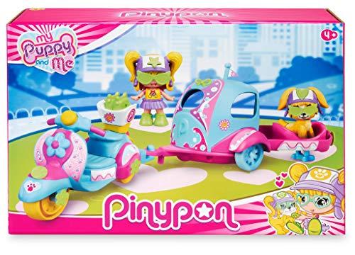 Pinypon. My Puppy and Me. Moto, Remolque y Figuras para niños y niñas de 4 a 8 años (Famosa 700016247)