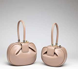 TIANZly Doppeltasche des echten Leders des Gepäckmädchens Kleiner Mengenentwurf