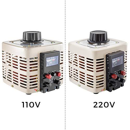 Frantools Stelltransformator 2000VA Wechselstromtransformator 220V AC 0-300 V AC Spannungswandler 50Hz Steuerung Motordrehzahl