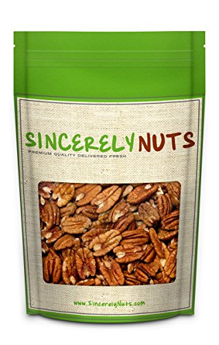 Sincerely Nuts - Raw Pecans (No Shell)   Five Lb. Bag   Shelled Whole Pecan   Delicious Healthy Snack Food   For Baking, Snacking and Dessert Treats   Gluten Free and Kosher   Fresh Resealable Bag