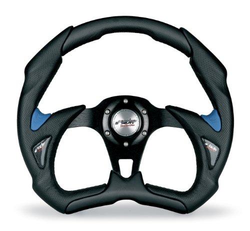 Simoni Racing X5350PUN/PA Volante Deportivo, Schwarz und Blau