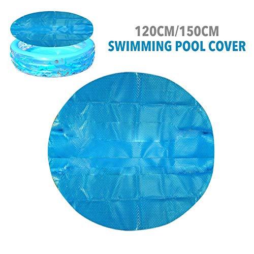 N/H Blaue Solaranlage des Schwimmbades, 120CM Durchmesser Rahmen Poolabdeckung Easy Set, Runde aufblasbare Poolschutzmatte, Isolierung Regenschutz Staubdicht Für Whirlpool