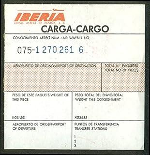 Iberia Lineas Aereas de Espana Carga Cargo airline shipment sticker ca 1960s