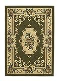 Think Rugs Marrakech Tradicional diseño Floral Alfombra Hecho a máquina 100% Polipropileno Alfombra de Suelo tamaño Grande 240cm x 330cm (luz Verde)