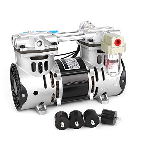 Oilless Vakuumpumpe,G1/4 Zoll Oilless Vacuum Pump 220V 260W Oilless Kolbenvakuumpumpe 680mmHg / -90.6kpa 60L / min Vakuumluftpumpe,60L / min ölfreie Kolbenvakuumpumpe,viel Zubehör