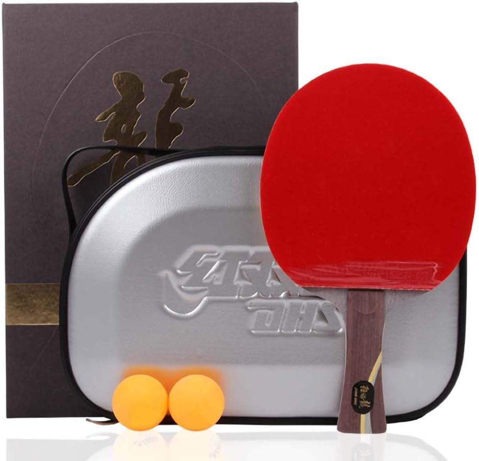 Lerten Palas De Ping Pong De Calidad Profesional,Raquetas De Ping Pong Clásicas En Caja De Regalo,Velocidad Rápida Y Fuerte Ofensiva,Raqueta Simple/Como se muestra/mango largo