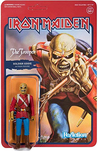 Iron Maiden Super7 Reaction Action Figure The Trooper 10 cm Figures