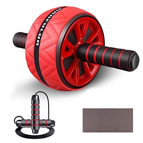 Arxus AB Roller Wheel, Juego 3 en 1 de AB Wheel Roller con Rodillera y Cuerda para Saltar, Equipo de Entrenamiento Abdominal para Ejercicio Abdominal, Entrenamiento Central, Entrenamiento en Casa