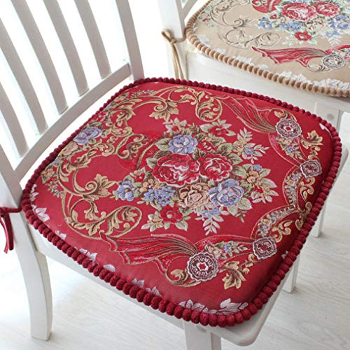 BERTERI 2pcs Dining Chair Pad with Thicken Sponge Floral...