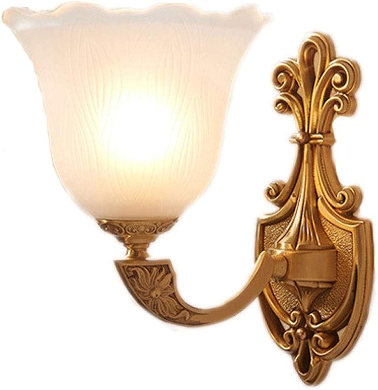Wandleuchte Lichter Lampe Leuchte Europischen Stil Kupfer Halter Perfekt für Wohnzimmer Dinning Rooms Loft Cafe Hotel Library E27 (gre   S)