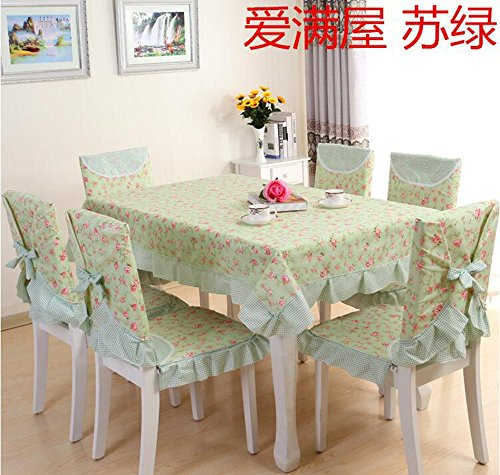 XINGYUNXING nappes pastorales de Dentelle, Tissu de Table, Linge de Table, Chaise Linge de Table Coussin, Couverture de Chaise,150 * 150CM