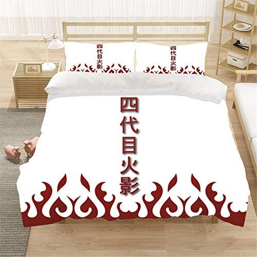 SMNVCKJ Ropa de cama Naruto Anime funda de almohada 3D microfibra algodón Kakashi ropa de cama para niños fanáticos del anime niños (1,200 × 200 cm)