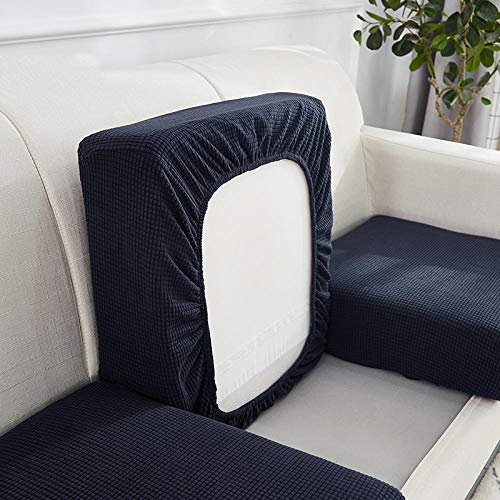 Gramke Funda de sofá extraíble Lavable elástica de Forro Polar Polar para Sala de Estar Fundas de Gran Elasticidad engrosadas de Varios tamaños, 2, (80-105) * (130-190)