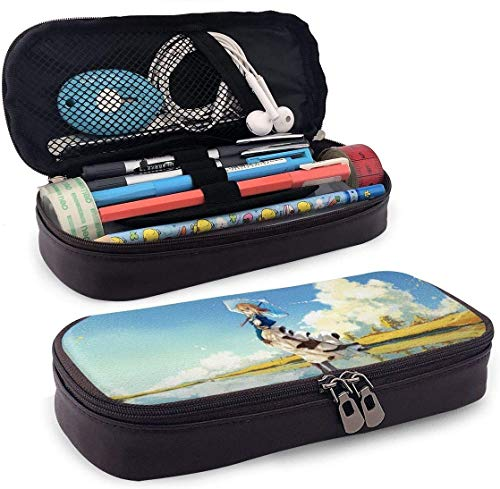 astucci e set per la scuola Pencil Case Big Capacity High Capacity Pen Pencil Pouch Box Organizer Portable Bag Holder with Zipper - Anime Violet Evergarden Beautiful Scenery