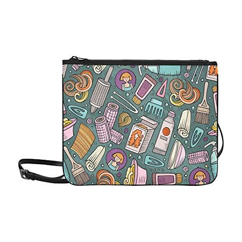 Klassische Umhängetasche Niedlich Schöne Cartoon Mädchen Haar Lockenwickler Verstellbarer Schultergurt Mode Taschen Für Jungen Für Frauen Mädchen Damen Clutch Bag Niedliche Große Clutch Bag