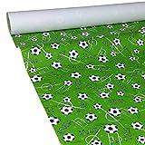 JUNOPAX 47930571 Papiertischdecke 50m x 0,75m Fußball Soccer Football nass- und wischfest