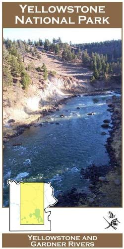 Yellowstone and Gardner Max 80% OFF Virginia Beach Mall Rivers YNP Fly Fishing River 11x17 Map