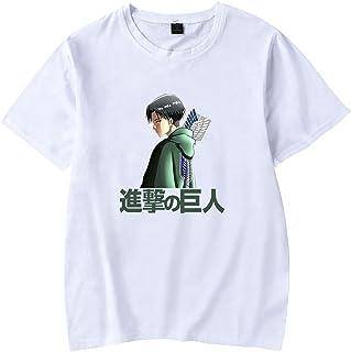 EMLAI Boy's Attack on Titan T-Shirt Anime Characters Cosplay Levi Ackerman Print Unisex Tops