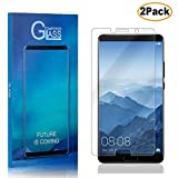 Casake[2 PACK] Screen Protector for Huawei Mate 10, [Easy Installation Frame] Tempered Glass Screen Protector for Huawei Mate 10