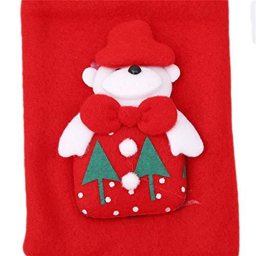 MAJFK Bolsas para botellas de vino de Navidad para botellas de vino de Navidad, bolsas de botella de vino, soporte de champán, diseño de árbol de Papá Noel, rojo