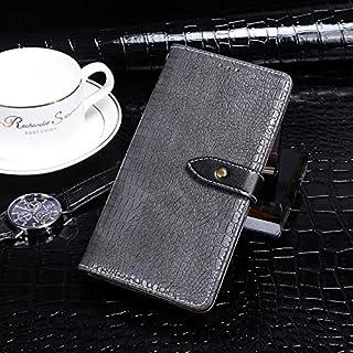 GLXC Blackview BV9600 Proワニのテクスチャ水平フリップレザーケースがホールダー&カードスロットと財布 (Color : Grey)