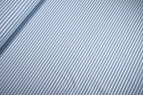 mollipolli-Stoffe Jersey Little Darling hellblau weiß gestreift 0,5m