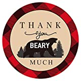 Pack of 50 Lumberjack Plaid Thank You Beary...