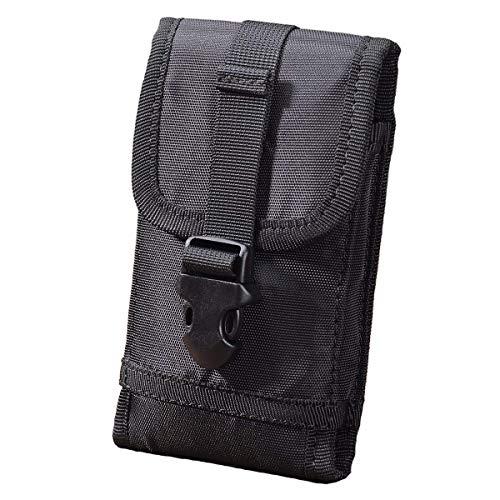 Fertuo Funda Blackview BV5500 Pro / BV9800 Pro, Carcasa Outdoor Multi-Fucional Bolsa Táctica de Cintura Cover Case con Presillas de Cinturón para Blackview BV5500 / BV9900 2020 Smartphonee (Negro)