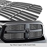 APS Compatible with Ram 1500 2013-2018 & Ram 1500 Classic 19-21 Honeycomb Style Only Main Upper Aluminum Chrome Wide Horizontal Channel with Rivet Studs Billet Grille Insert Self Assemble D65919F