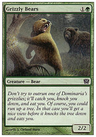 Magic The Gathering - Grizzly Bears - Ninth Edition - Foil