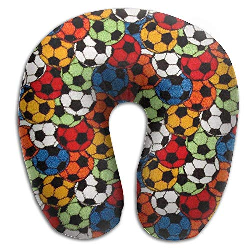 EighthStore Almohada en Forma de U Whisper Soccer Travel Pillow Neck Pillow Airplane Pillow Travel Neck Pillow-Supports The Head Neck and Chin U-Shaped Pillow