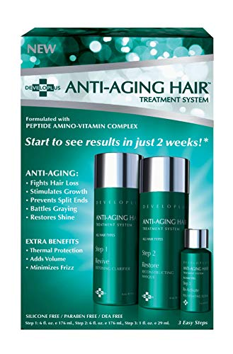 Developlus | Anti-Aging Hair Treatment System | Moisturizing Nourishing Hair Product | Fortifying | Deep Conditioning
