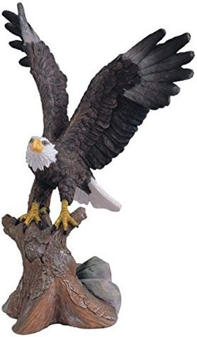 StealStreet SS-G-54164 Small Brown & White Bald Eagle Soaring from Tree Figurine, 6.75