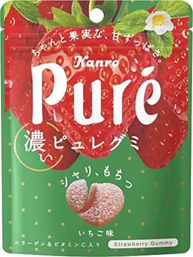 カンロ ピュレグミ濃いいちご 52g×6入 ×2個