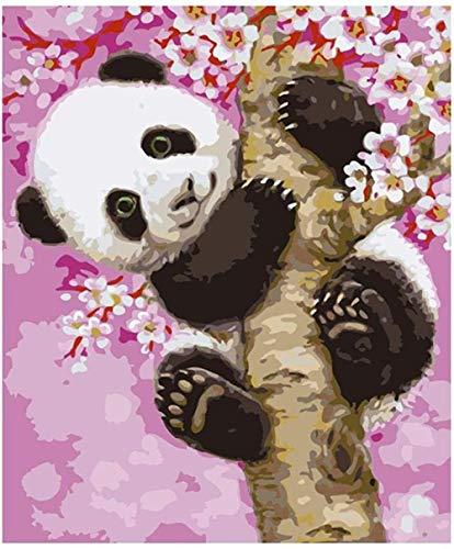LFZY Rompecabezas de Madera 300 Piezas, Juego de Juguete para niños Adultos, Regalo clásico de decoración de Rompecabezas, Panda Sakura