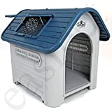 Easipet Weatherproof Plastic Dog Kennel for Indoor and Outdoor 74325