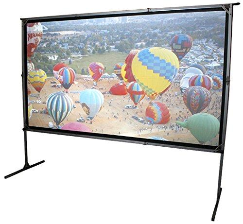 Elite Screens OMS120H2-DUAL Mobile Garten Leinwand Yard Master 2 Dual 266 Outdoor Projection Screen schwarz
