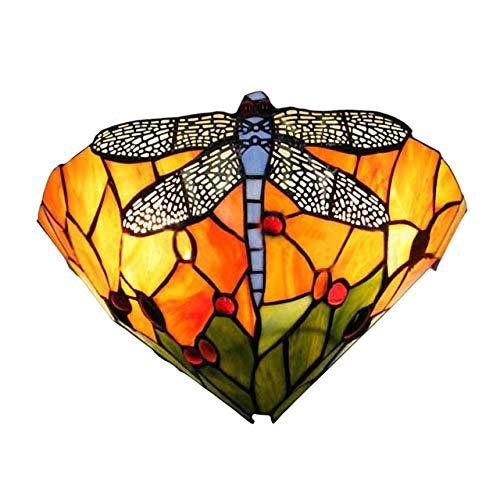 Wandlamp van gekleurd glas Dragonfly Retro LED E27 wandlamp wandlamp verlichting slaapkamer woonkamer wandlamp