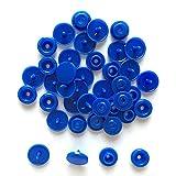 20/50/100/150 set T5 12mm Plastic Snaps Button Sujetadores Hebilla Snap Button Resina Prendas de vestir Accesorios para ropa de bebé (en bolsa) -deep blue, 150set