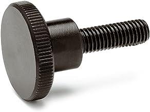 Hele normelementen | hoge kartelschroeven - DIN 464 | schroefdraad M6 | gepolijst staal Gewindelänge l: 20mm zwart