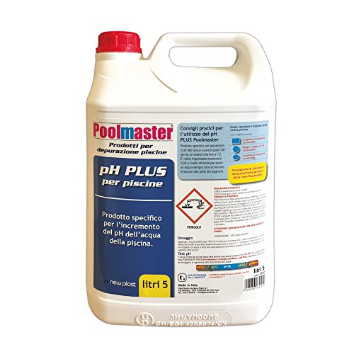 New Plast 0840 - Correttore di pH Plus per Acqua Piscina, Tanica 5 lt