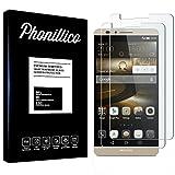 PHONILLICO [Pack de 2] Verre Trempe Huawei Mate 7 - Film Protection Ecran Verre Trempe Ultra...